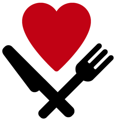 Heart, fork and knife